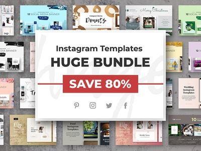 Instagram Templates HUGE BUNDLE