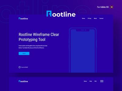 Rootline - Wireframe UI Kit