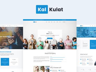 Kalkulat | HTML5 Template start-up responsive portfolio multipurpose modern landing-page kalkulat creative corporate business