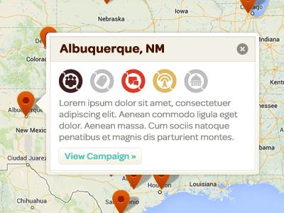Map info window