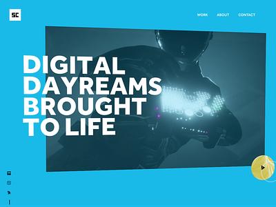 Digital Daydreams 3dtransform reel video uianimation c4d webdesign