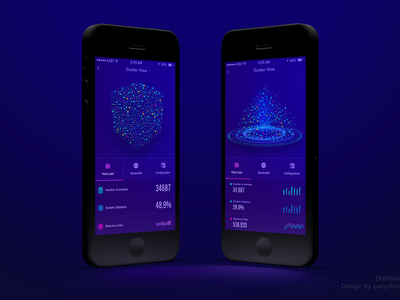 APP Data page design ui app 3d cube rubiks visualization data animation histogram particle diagram scatter
