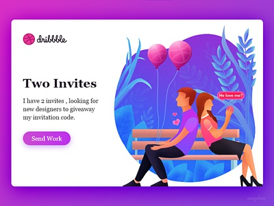 2 Dribbble Invites by Zoeyshen