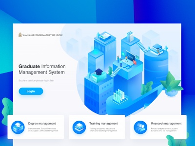 Landing page design login page isometric illustration 3d school icons icon card design ux uidesign user experience web animation website brand design typography characters flat design landing page illustrations user interface