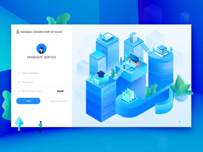 Login Page Design user interface illustrations landing page flat design characters typography brand design website animation web user experience uidesign ux card design icon school icons 3d isometric illustration login page