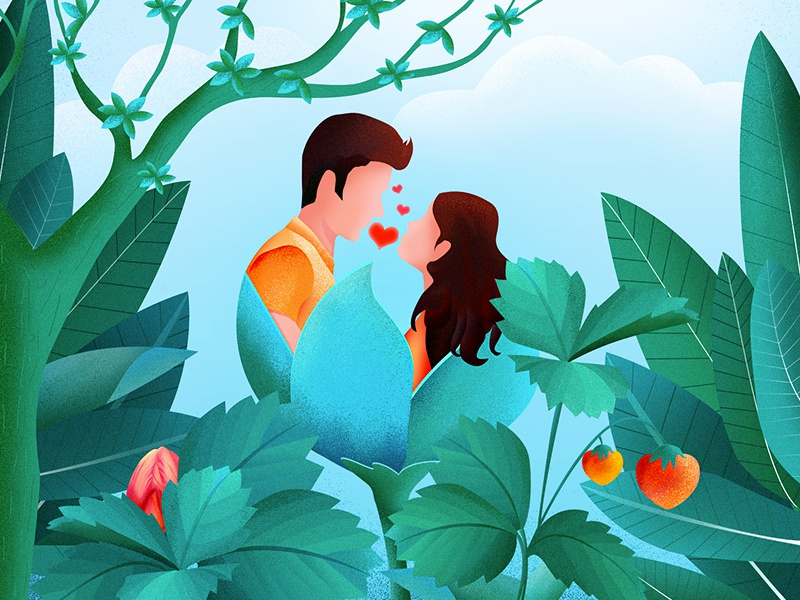 Illustration Design botany tree green love ui user interface illustrations landing page flat design characters typography brand design web user experience uidesign ux card design icon isometric illustration login page
