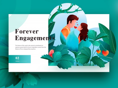 Web Page Layout Design leaves plant couple illustration website web user interface user experience ux ui typography landing page illustrations flat design characters brand design animation