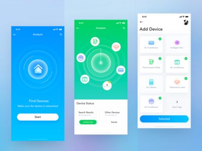 Smart Home Product Interface Design