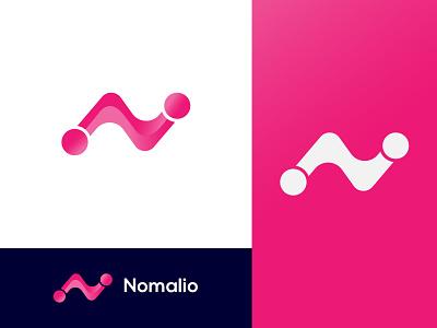 Nomalio Logo Design-N Modern Letter Logo graphic design branding
