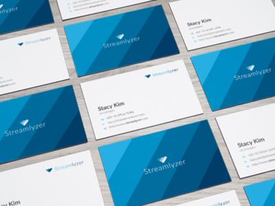 Streamlyzer Business Card Design