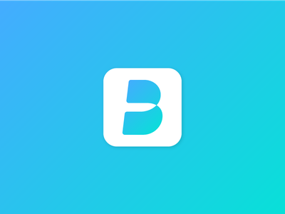 Bridgeme Logo1 bi branding icon mobile gradation b symbol logo