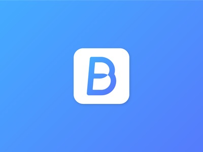 Bridgeme Logo2 bi branding icon mobile gradation b symbol logo