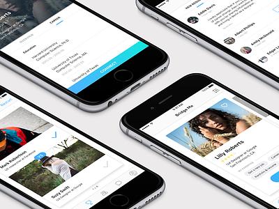 Bridge Me App Screens clean tournament profile simple ios app ui mobile