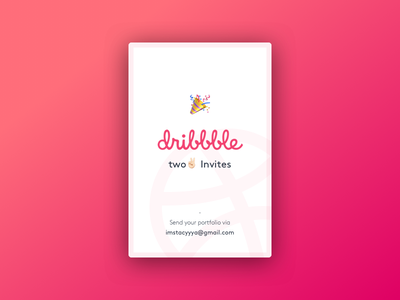Diribbble invites x2 simple ux draft new two pink gradient card ui dribbble invites