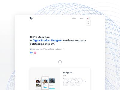 New portfolio design dailyui design card website clean web ux ui portfolio