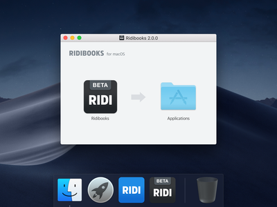 macOS application installation background ui viewer desktop ridi background install installation macos