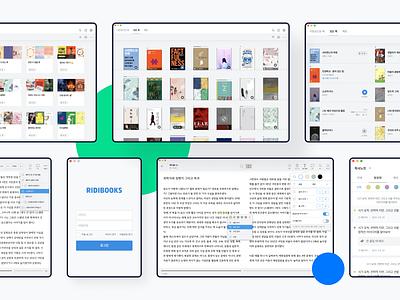 RIDIBOOKS Desktop App Redesign ebook beta ridibooks ridi viewer book ux ui desktop app desktop