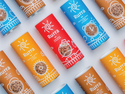 Rurra brand identity branding agency packaging romania symbold happy breakfast cereals sun can muesli rurra