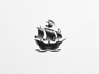 Ship sail details sea boat craft black and white adventure papyrus pirate ship