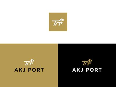 Akj Port Logo trade platform hunt ready focus smart pointer dog crypto currency