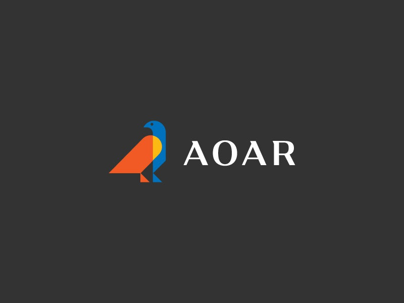 AOAR flag bird innovative vision strong minimalist romanian symbol protector mentor eagle