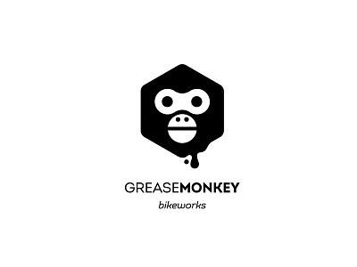 Grease Monkey Bikeworks geometric tools nut fixit repair parts monkey grease