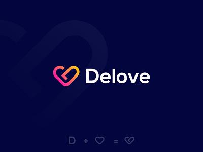 D Letter + Love monogram minimal modern logo logo folio logo design logo wordmark heart logo d mark letter d d logo d love logo d meaningful logo startup creative logo brand icon brand identity branding