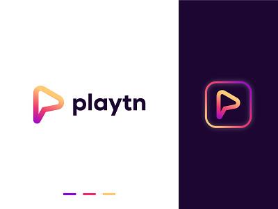 P Letter + Play logo folio logo design logo modern logo minimal monogram wordmark play p mark letter p p logo p meaningful logo startup creative logo branding design brand icon brand identity branding