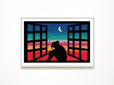 Illustration drawing artwork vector illustration