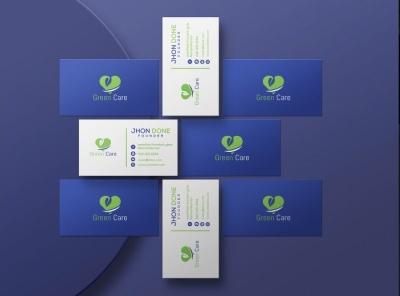 Business Card Design graphic design blue card beanding business card branding