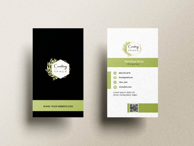 Vertical Business Card Design graphic design branding vertical card