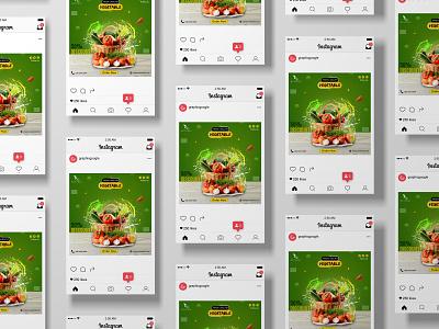Social Media (Instagram) graphic design green banner banner ads instagram post social media post banner design