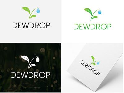 DewDrop Logo personal logo initial logo graphic design branding dewdrop logo dewdrop dew logo logo vector
