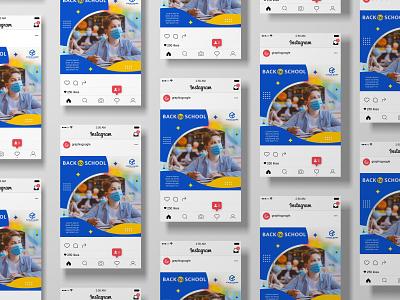 Back to School Social Media Post back to school banner design banner social media design graphic design instagram post branding