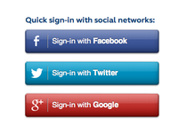 CSS + SVG social sign-in buttons