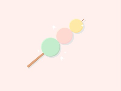 Cute Dango Illustration vector illustration design