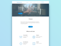 Landing page concept for Heptasense