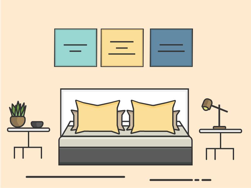 Bedroom bedroom nudes illustrator daily yellow