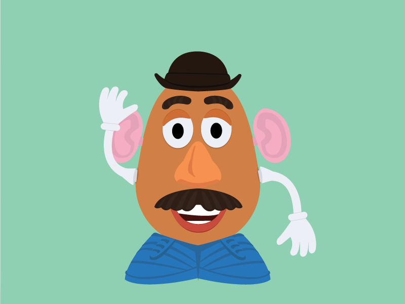 Mr Potato Head From Toy Story By Micaela Pimenta Dribbble Dribbble