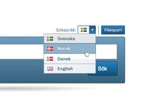 Language dropdown select