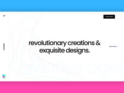 Agency banner design uiuxdesign webdesign creative modern design landing page design creative agency