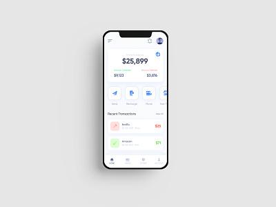 Banking App UI Concept mobile app design mobile uiux banking app mobile app creative design
