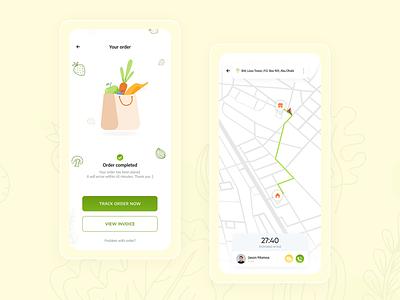 Grocery Delivery App landing page design design front end developer ui ux designer designer ui ux design food app ui food app mobile app order app ui