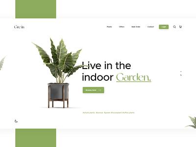 Gre in Plant Shop UI uiux designer creative creative agency ui landing page design