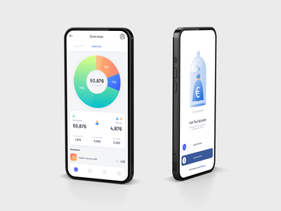 Tax calculator app concept app designers tax app ui freelance designer app designer mobile app login design mobile app design app design design uiuxdesign ui landing page design