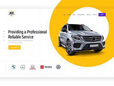 Car service landing page freelance designer freelancer web deisgn app designers creative design app design mobile app creative agency landing page design