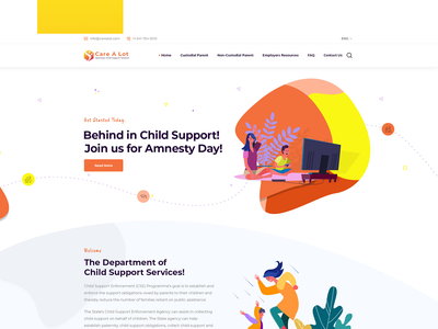 Child support website UI app designers app designer freelance designer app design uiuxdesign mobile app creative agency design creative landing page design