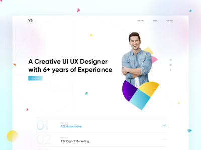 Personal Website Concept most viewed dribbble shot new ui designer website personal website personal mobile app uiuxdesign app designers design freelance designer creative creative agency landing page design
