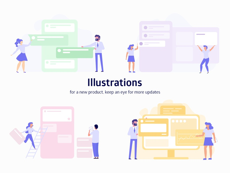 Illustrations graphic design illustration website design