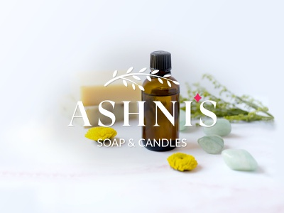 Ashni's - Logo Design serif typeface logotype logodesign